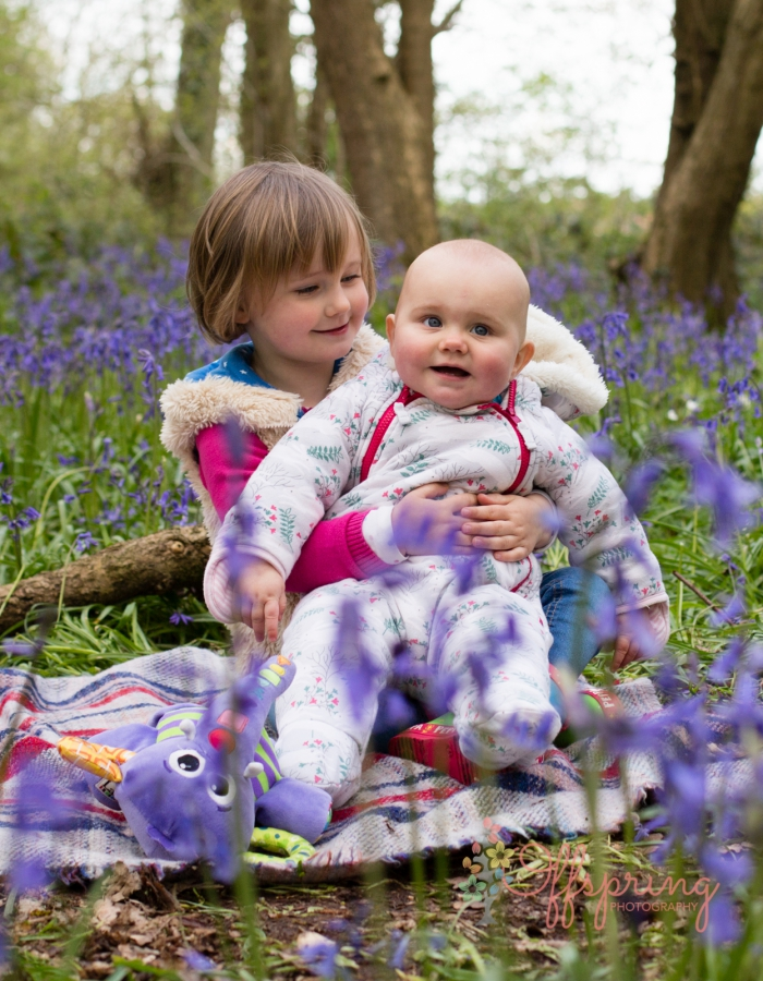 Leamington Spa Bluebell Woods family photo session by Offspring Photography