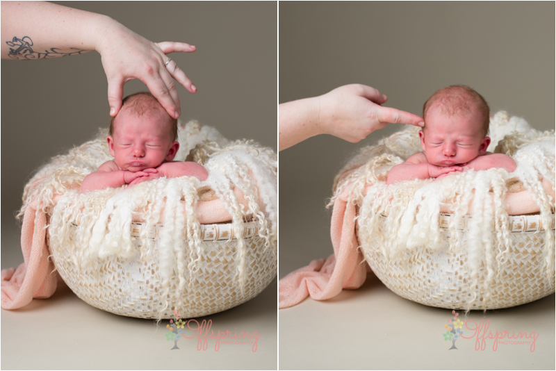 Newborn safety. Composite photo